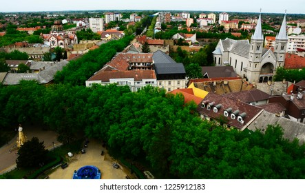 View of city Subotica,Serbia.Subotica is second town in the region of Vojvodina