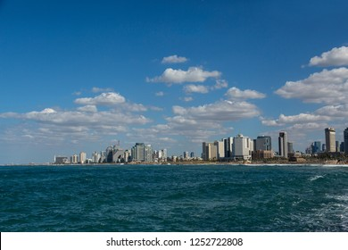 View of the city of Tel Aviv from the sea