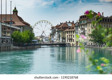 View of the city Thun in Swiss