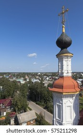 View of the city Totma from the bell tower Church of the Entry into Jerusalem, Vologda region, Russia