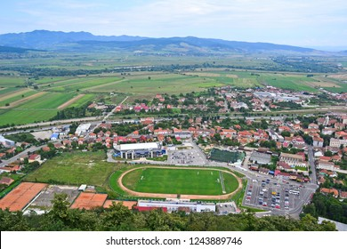 View of the city in Transylvania Romania