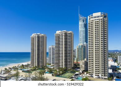 View of cityscape near the beach at Gold Coast, Australia during daytime