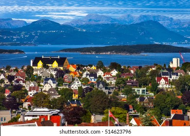 View of the cityscape of Stavanger in Norway.