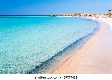 View of clear water on Elafonisi beach. Crete. Greece.