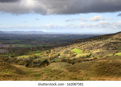 View from Cleeve Common near Cheltenham, Gloucestershire, England.