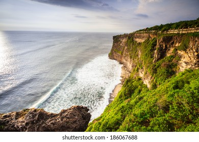 view of a cliff in Bali Indonesia