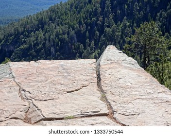 View from a cliff top; Mogollon Rim in Apache-Sitgreaves National Forest in Arizona