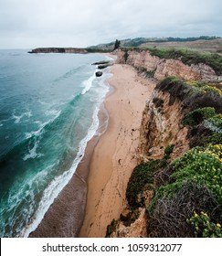 The view from the cliffs above Four Mile Beach near Davenport California