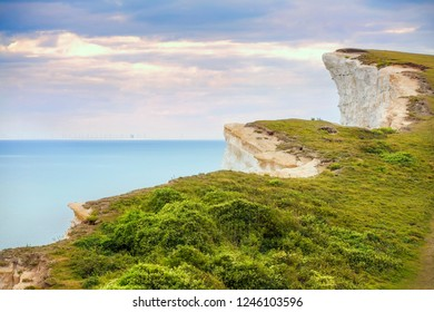 View of the Cliffs Near Belle Tout Lighthouse, Eastbourne Downland, South Downs National Park, England