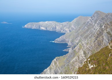 View of the cliffs and the ocean at Achill Island in Ireland