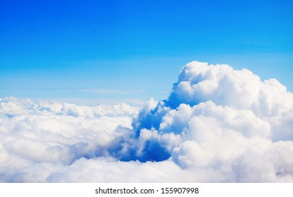 View of the clouds from above, lot's of free space, nice for using like background