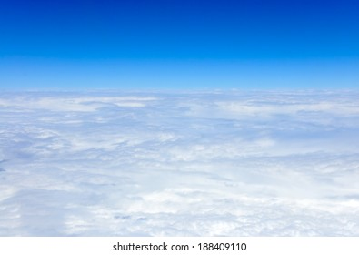 view of clouds from an airplane window