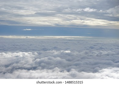 View Clouds through the plane window