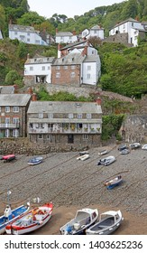View of Clovelly Devon from the harbour