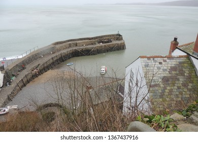 A view of Clovelly - a fishing village in North Devon