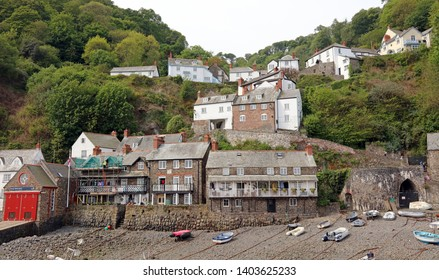 View of Clovelly and its harbour
