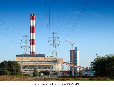 View of coal power plant