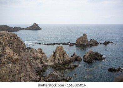 view of the coast of cabo de gata