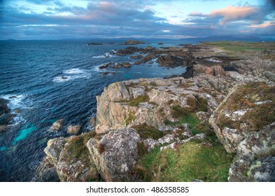 A View of the Coast of the Isle of Iona in Scotland