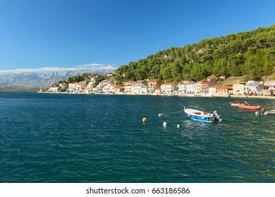View of the coast of Novigrad, Dalmatia, Croatia