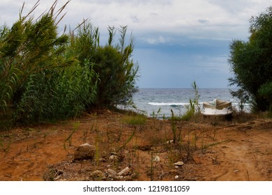 View of coast Paleokastritsa Corfu island, Greece