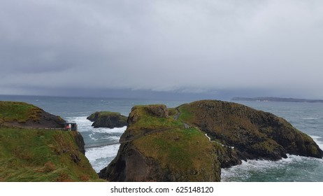 View of the coast and the sea in Northern ireland
