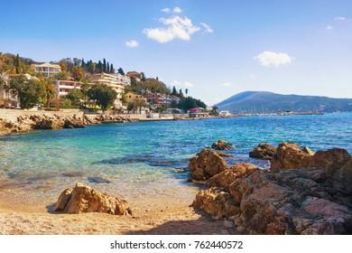 View of the coastal city of Herceg Novi. Montenegro