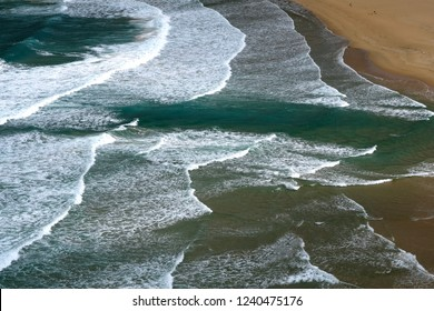View of coastal rip current.