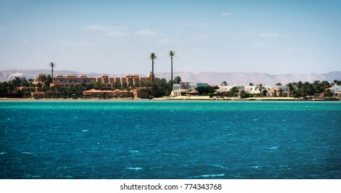 View of coastline at El Gouna. Egypt, North Africa
