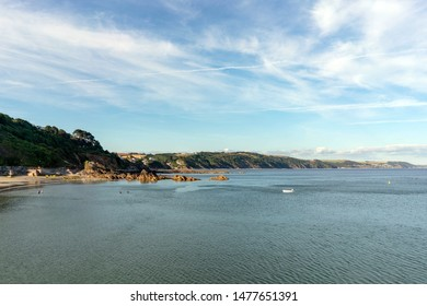 A view of the coastline at Looe, Cornwall.
