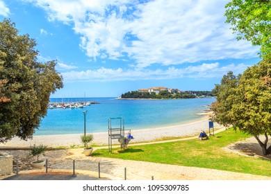 View of a coastline near Pula, Istria, Croatia