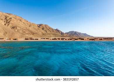 View to the coastline of Red Sea