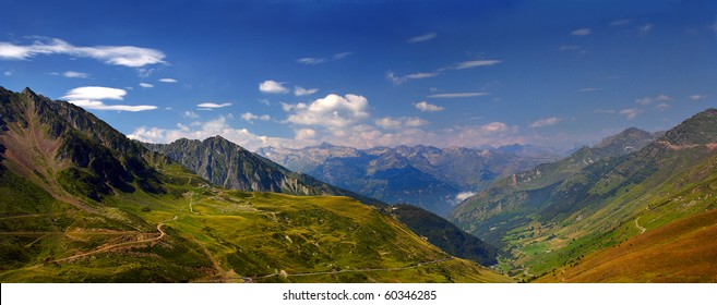 View from Col du Midi, France, Pyrenees