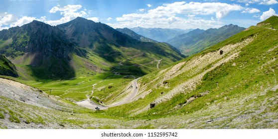 a view of Col du Tourmalet in pyrenees mountains