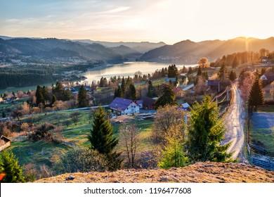 View at Colibita ,Romania