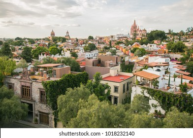 View of colonial town of San Miguel de Allende, Mexico
