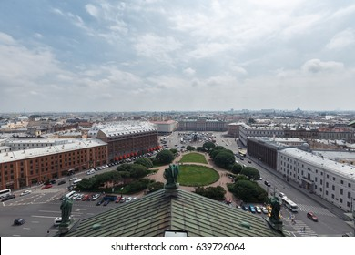 View from the colonnade of St. Isaac's Cathedral. St.Petersburg, Russia