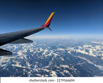 The view of Colorado from an airplane