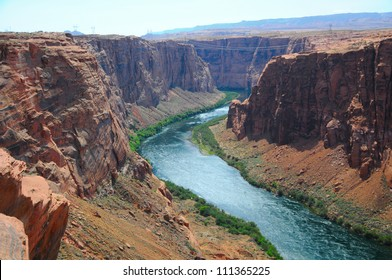 View of Colorado River, Page, Arizona, US