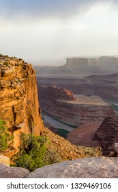 View of Colorado river running in Dead Horse point state park, Utah