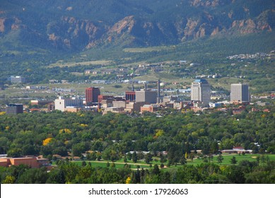 View of Colorado Springs, Colorado as seen from Palmer Park's Grand view