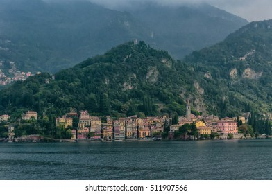 The view of colorful buildings in Varenna, Como Lake, Italy.