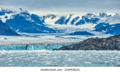 A view of the Columbia Glacier on Prince William Sound, Alaska