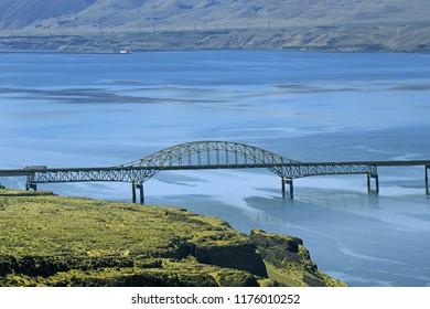 View of Columbia river, WA, USA