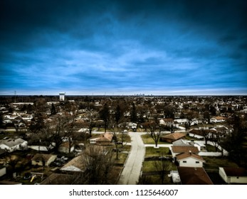 View of Columbus from suburbs