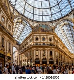View of the commercial galleries Vittorio Emanuele IIMilan, ItalyApril, 20, 2019