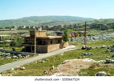 View of communal life in the Beqaa (Bekaa) Valley of Lebanon near Lake Qaraoun. This area has suffered disruption from the repeated wars between Israel and Hezbollah, yet life and farming must go on.