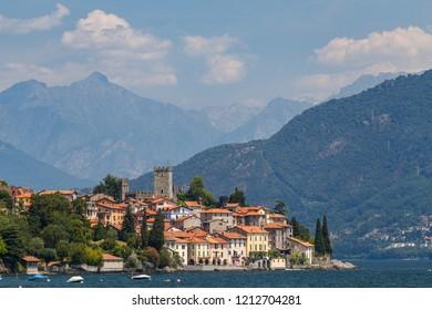 View to Como lake from San Siro town, Italy