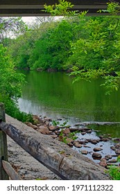 View of the Conestoga River while walking on the Conestoga Greenway Trail.