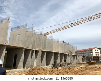 View of construction on progress